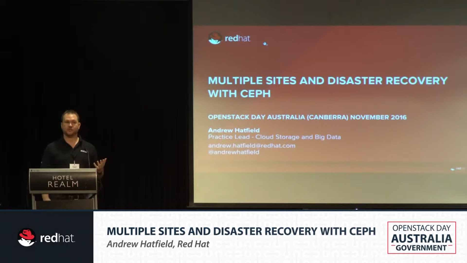 Multiple Site Disaster Recovery with Ceph
